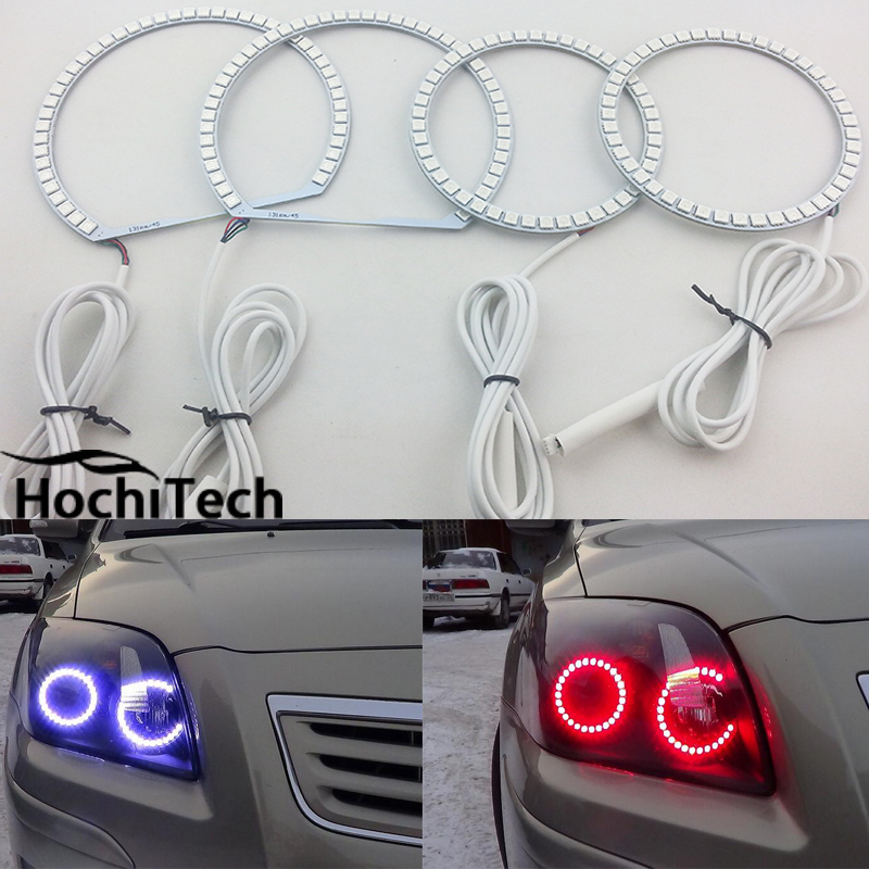 For Toyota Avensis T250 2003 2004 2005 2006 2007 2008 2009 LED perimeter headlight rings halo Multi-color RGB angel demon eyes