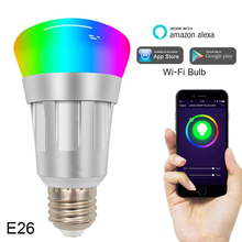 Get more info on the E27 E26 E14 B22 Smart WiFi Bulb Dimmable light Voice APP Remote Control Multi-Color Led Bulb Work With Alexa Google Home Nest