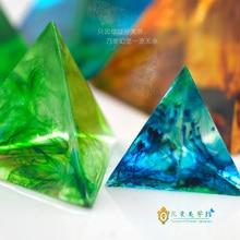 Triangular Pyramid-silicone pyramid energy tower  DIY mould jewelry