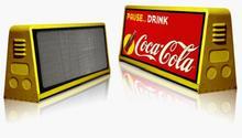Leeman P5 P4 P5 двусторонняя синхронный видеопроцессор такси из светодиодов дисплей / из светодиодов такси рекламные вывески рекламные щиты панель