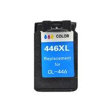 LuoCai uyumlu mürekkep Canon için kartuş cl446 Canon PIXMA MX494 MG 2440 2540 2940 MX494 IP2840 yazıcılar CL 446 CL-446