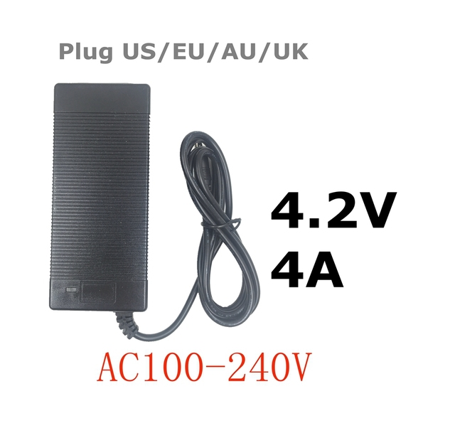 Carregador de bateria de polímero de lítio de 4.2 V 4A DC 5.5 MM * 2.1 MM Carregador Portátil EU/AU/EUA/REINO UNIDO Plug