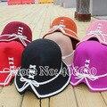 Invierno de Fieltro de Lana Sombreros Del Cubo De Las Mujeres Chapeu Sombreros de Ala Niñas YCDW-001 Cloche Sombreros Femeninos El Envío Libre