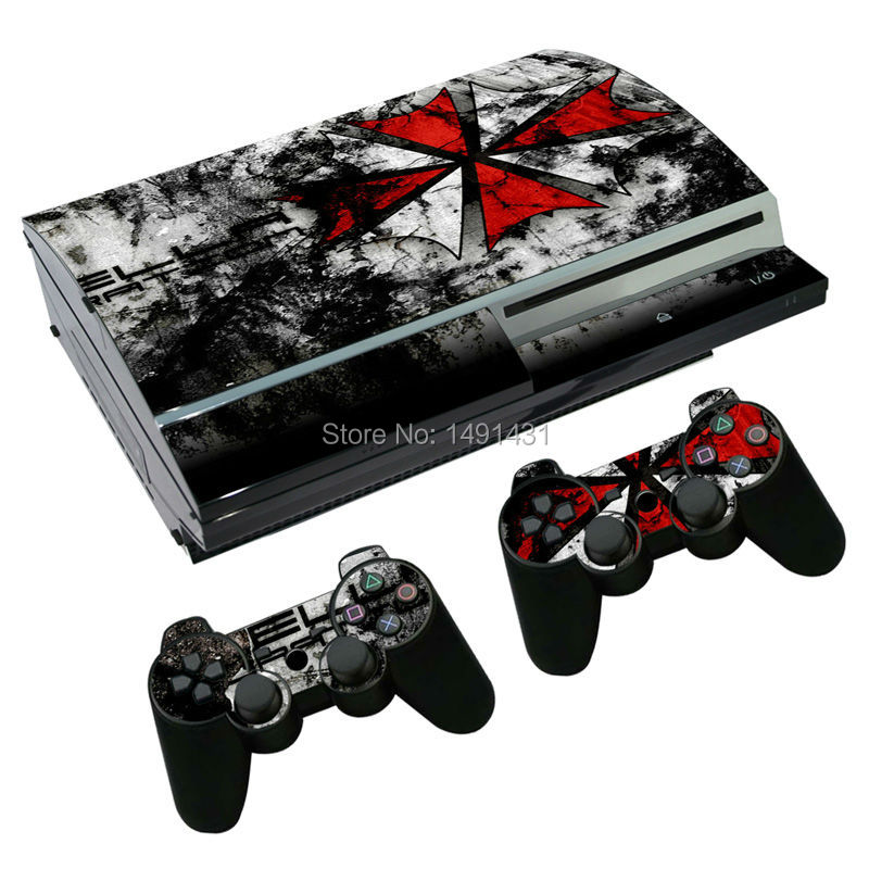 OSTSTICKER High Quality Protective Sticker For Sony Playstation 3 Fat Skins For PS3 Console & 2 Controller