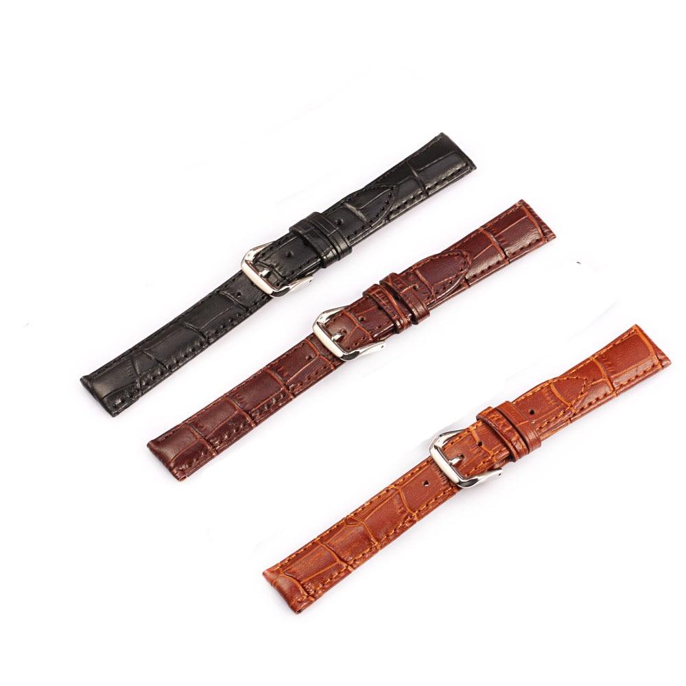 Männer Frauen Krokodil Echtes Leder Uhrenarmband 12 14 16 18 19 20 - Uhrenzubehör - Foto 4