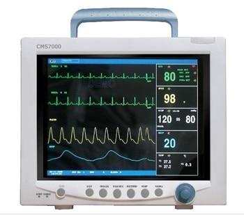 Free Shipping CONTEC CMS7000 CE FDA TFT 12.1' Portable ICU Patient Monitor Multi Parameter SPO2 + NIBP + PR +TEMP + RESP