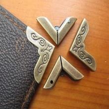 Corner-Protectors Bronze Book Books-Pattern Metal-Corners Inside-Size for Carved 20mm