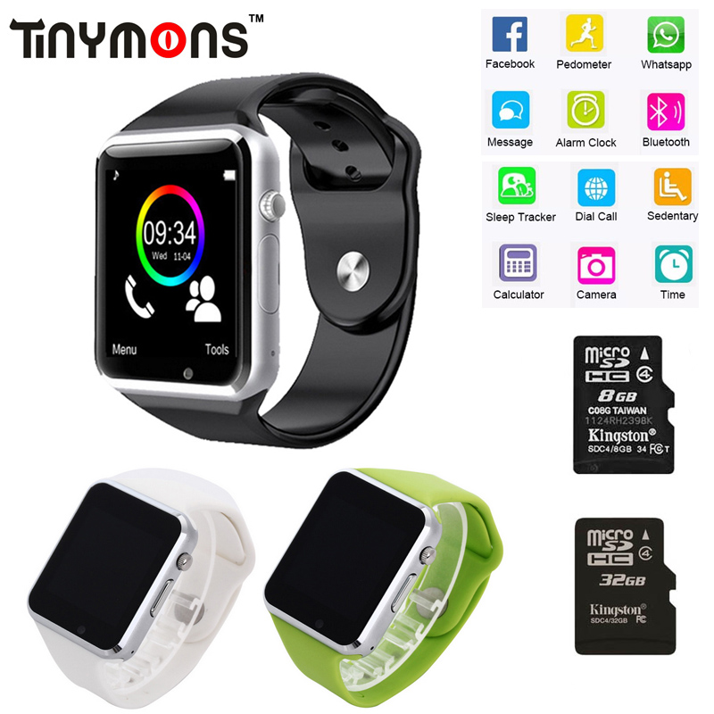 A1 WristWatch Bluetooth Smart Watch Fitness Pedometer Wear SIM Camera Smartwatch