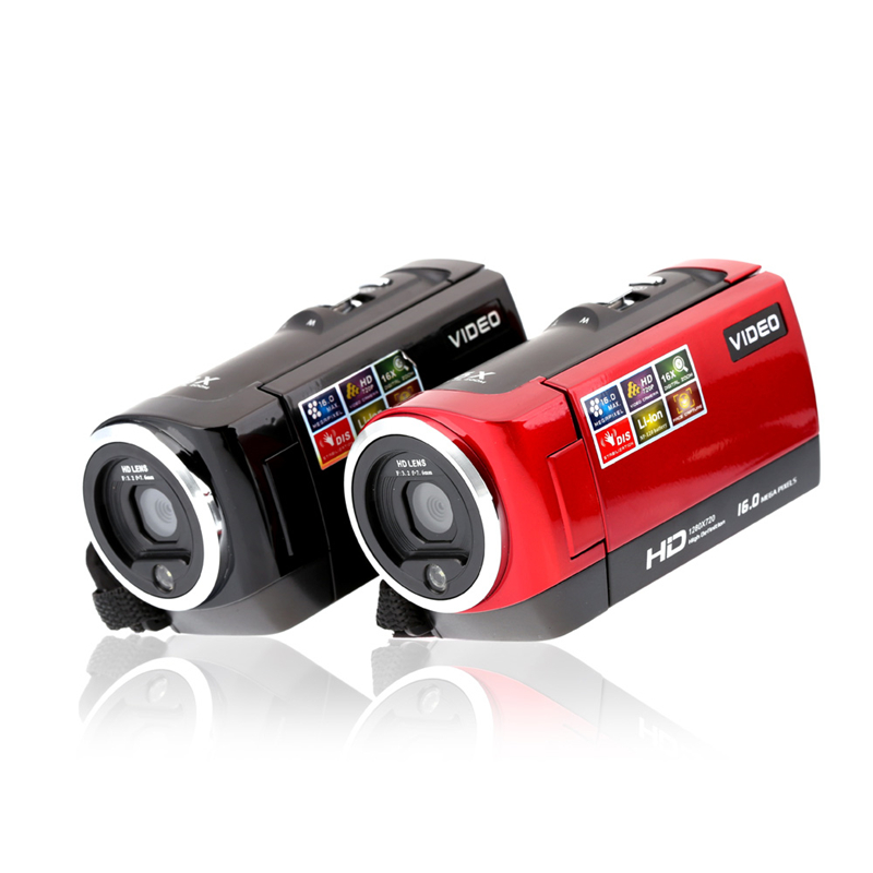 HD 720P Digital Camera HDV Video Camera Camcorder 16MP 16x Zoom COMS Sensor 270 Degree 2