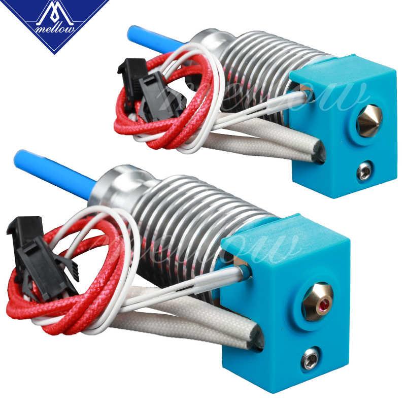 3D Printer BLV Bottle Jacks Mgn Kubus V6 Kuningan/Ruby Nozzle Hotend untuk 12 V/24 V 40 W Cartridge dan Termistor E3D V6 Prusa I3 Mk3s Mk2/2.5