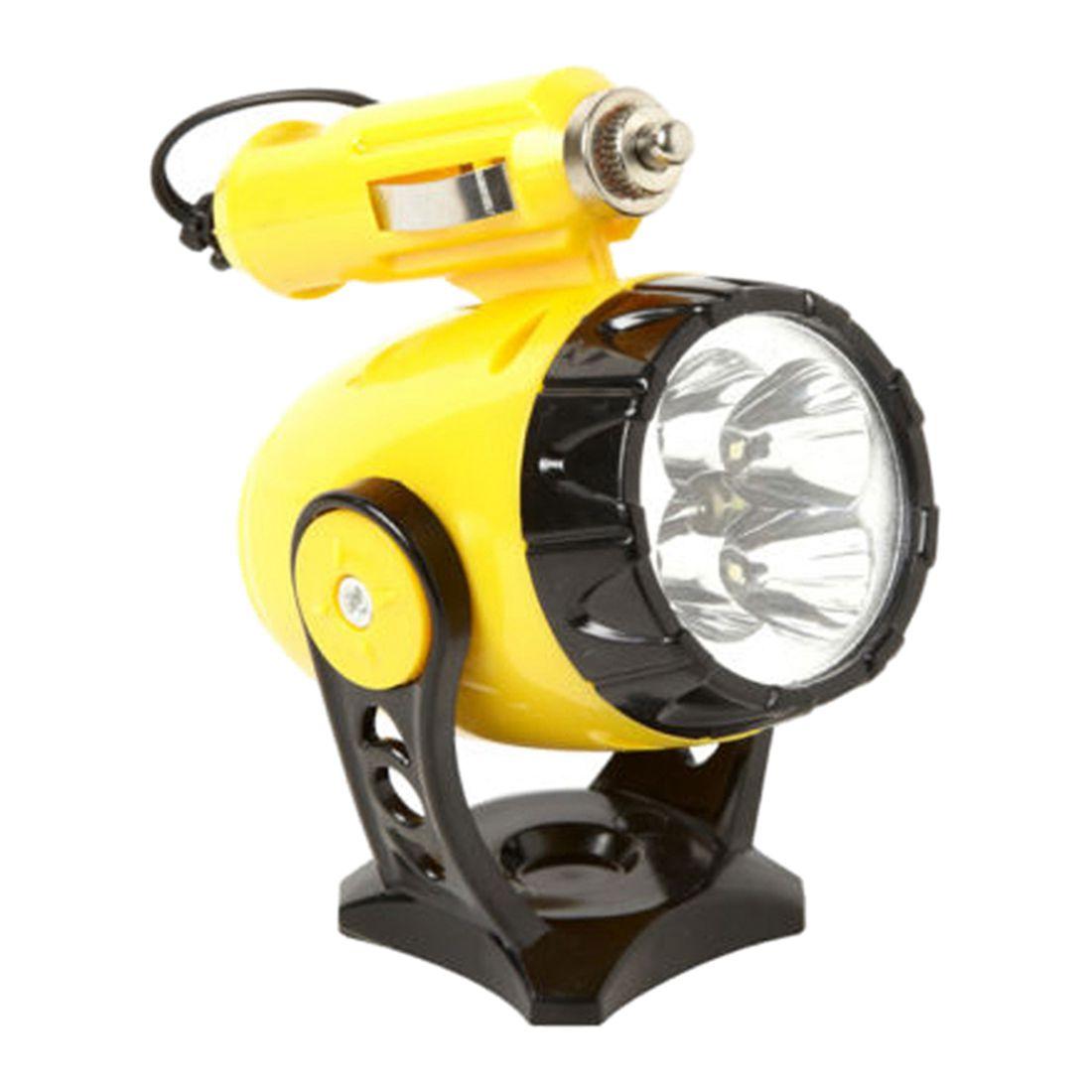 12V 5 LED Flashlight Car Auto Cigarette Lighter Magnetic Emergency Work Light LED Magnetic Working Lights Emergency Flashlights