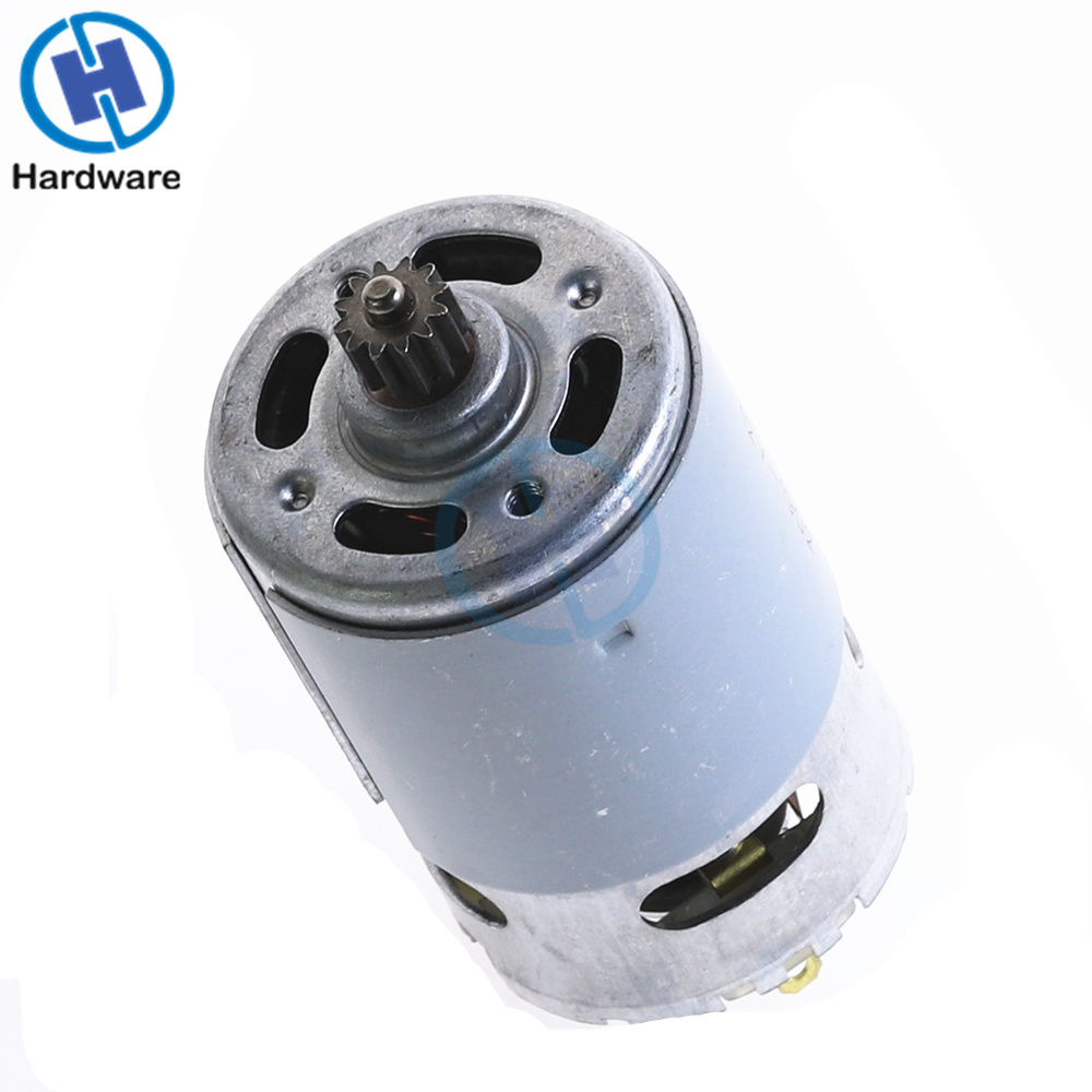 1PC Stable Electric RS550 Motor 12V 16 8V 21V 12 Teeth Gear 1 0 Mold 3mm Shaft Dia For Cordless Charge Drill Screwdriver in DC Motor from Home Improvement