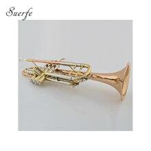 Bb Труба золото латунь Leadpipe Bell Monel Поршень с ABS чехол Instrumentos Musicais professionais