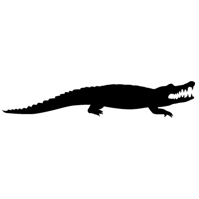 21*4cm 1Pcs Alligator animals Decal Car Sticker Accessories Motorcycle Helmet Styling Stickers