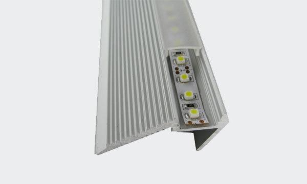 Hliníkový kanálový profil Alloy LED pásové schodiště, délka 0 ~ 3 m, průhledný, poloprůhledný a opálový difuzor čočky, doprava zdarma