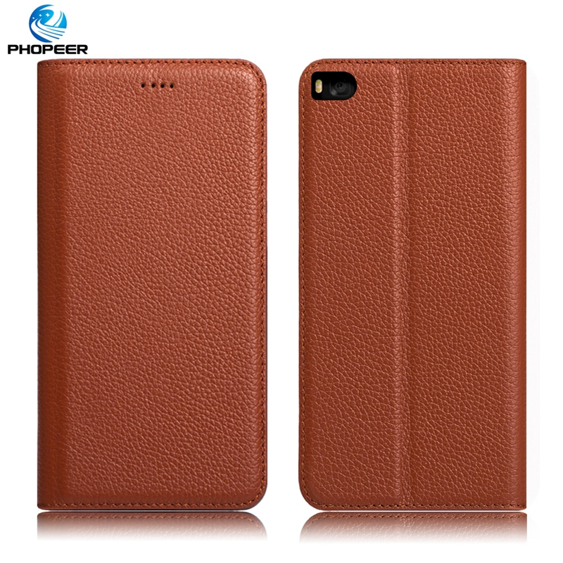 Original PHOPEER Luxury Retro Genuine Leather Case For Huawei Ascend P8 Phone Stand Filp Cover Case For Huawei Ascend P7