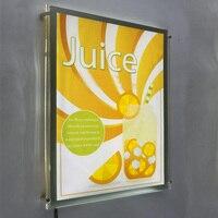 (Упаковка/5 единиц) пользовательские 90x40 см Односторонний настенный led Книги по искусству висит системы светлый карман, плакат с подсветкой Д