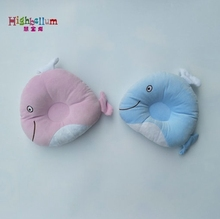 Infant Newborn Baby Pillow Sleep Positioner Prevent Flat Head Shape Support High Quality 100% Cotton Soft Fish Pillow Bed Toy