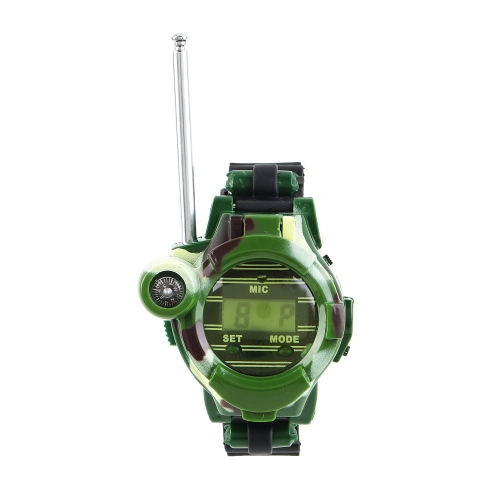"""1 Пара Часы Walkie 7 в 1 0.8 """"ЖК-Радио 50 ~ 150 М Рации ж/Огни Mic горячий новый"""