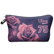 3D Printing Large Cosmetic Bag Fashion Women Brand