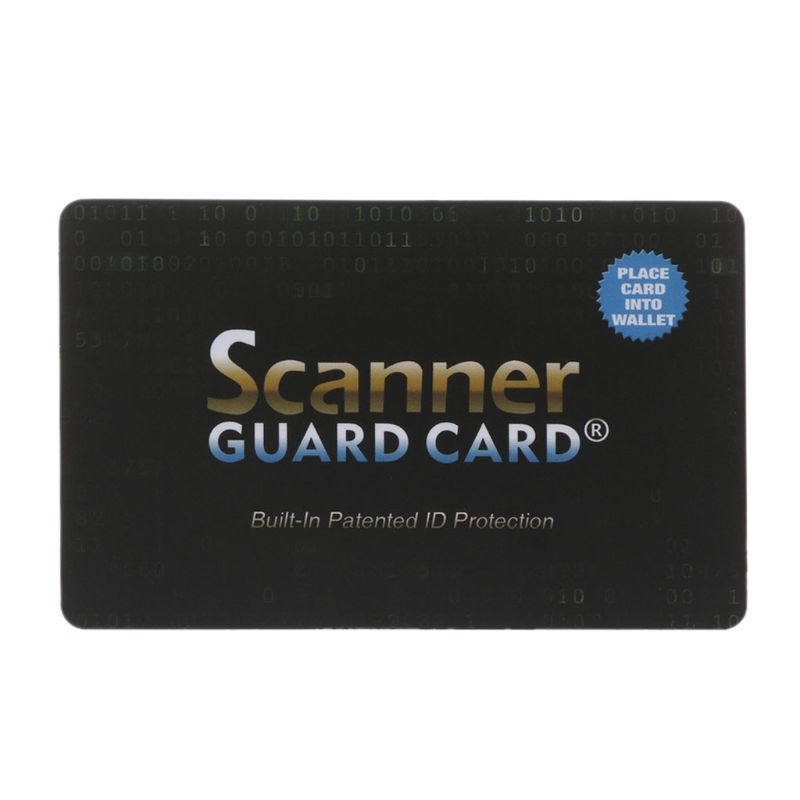 Portable Credit Card Protector RFID Blocking NFC Signals Shield Secure For Passport Case Purse