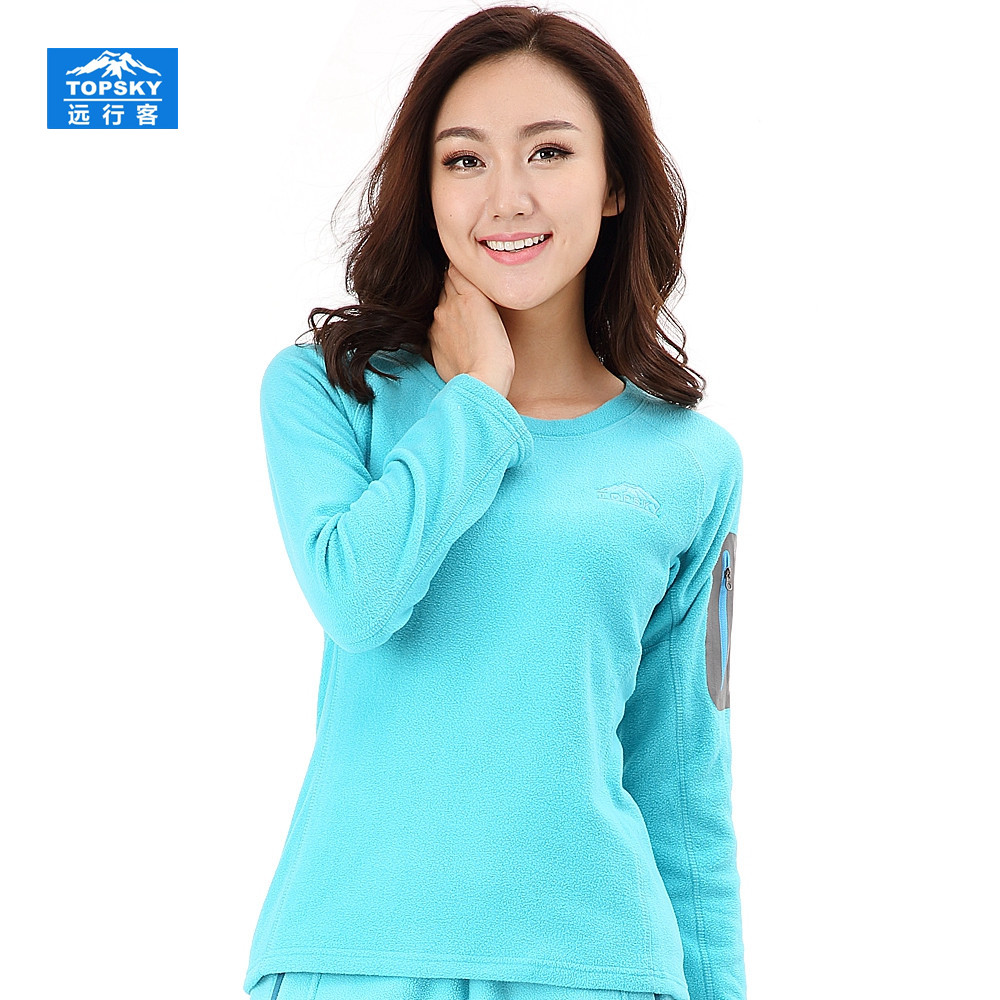 2016 New Hot Sale Female Models Woman Clothes Outdoor Winter Thick Round Neck Warm Fleece font