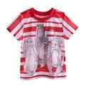 Pettigirl 2017 chicos de manga corta camiseta de verano nuevo estilo blanco y rojo mono impreso kids boy ropa casual bt90324-19l