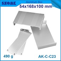 4 pieces metal electronic aluminum silver color enclosures 54*168*100mm metal router enclosure