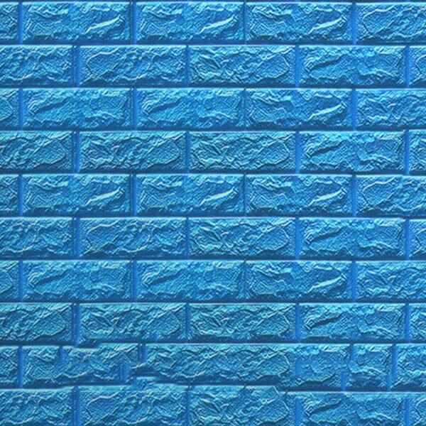 3D настенные наклейки имитация кирпича Декор для спальни водонепроницаемые самоклеящиеся обои для гостиной кухни ТВ фон Декор - Цвет: Blue  60x60cm