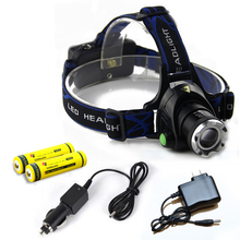 Rechargeable 18650 2000 Lumens Zoomable CREE T6 LED Headlight LED Headlamp Head Lamp For Outdoor Sports