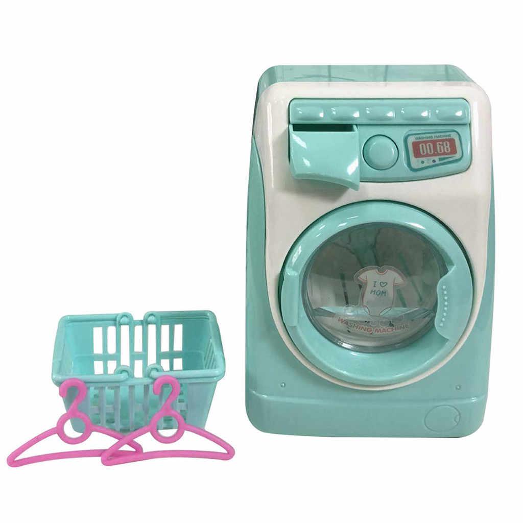 Kinder Pretend Rolle Spielen Make-Up Pinsel Reiniger Gerät Automatische Reinigung Waschen Maschine Mini Klassische Kinder Pädagogisches Spielzeug T9 #