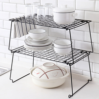 High Quality Metal Stackable Storage Holders Kitchen Organizer Plate Holders Dish Drying Rack Bathroom Shower Rack Drain Rack