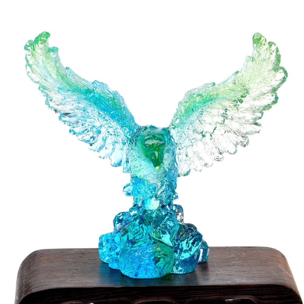 Eagle feng shui liu li crystal figurines animal paperweight craft collection nature stone art - Cheetah statues ...
