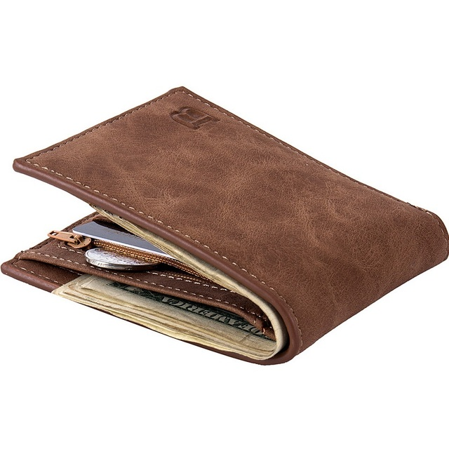 Men's Brown Wallet w/Coin Holder