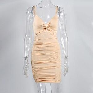 Image 5 - NewAsia 2 שכבות Ruched סקסי Bodycon שמלת נשים קיץ שמלה אלגנטית מיני שמלת המפלגה מועדון ללבוש גבירותיי שמלות חג המולד מתנה