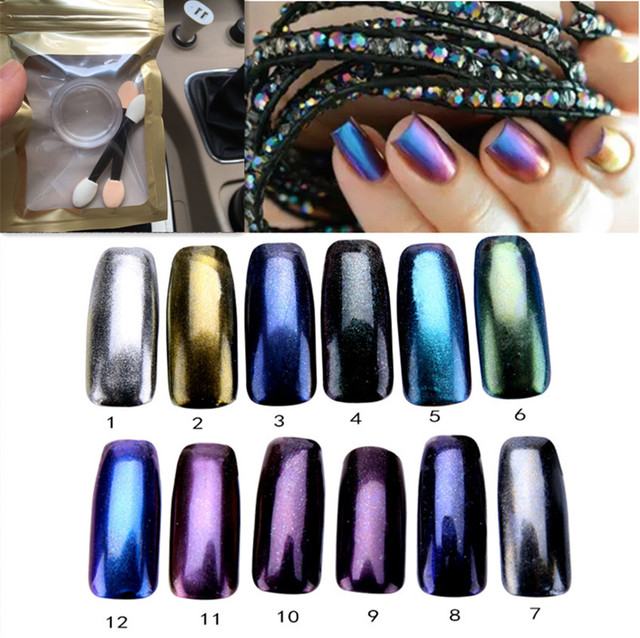 1g 3g Mirror Powder Nails Holographic Chrome Nail Vtirka Polish Art Glitter Reflecting