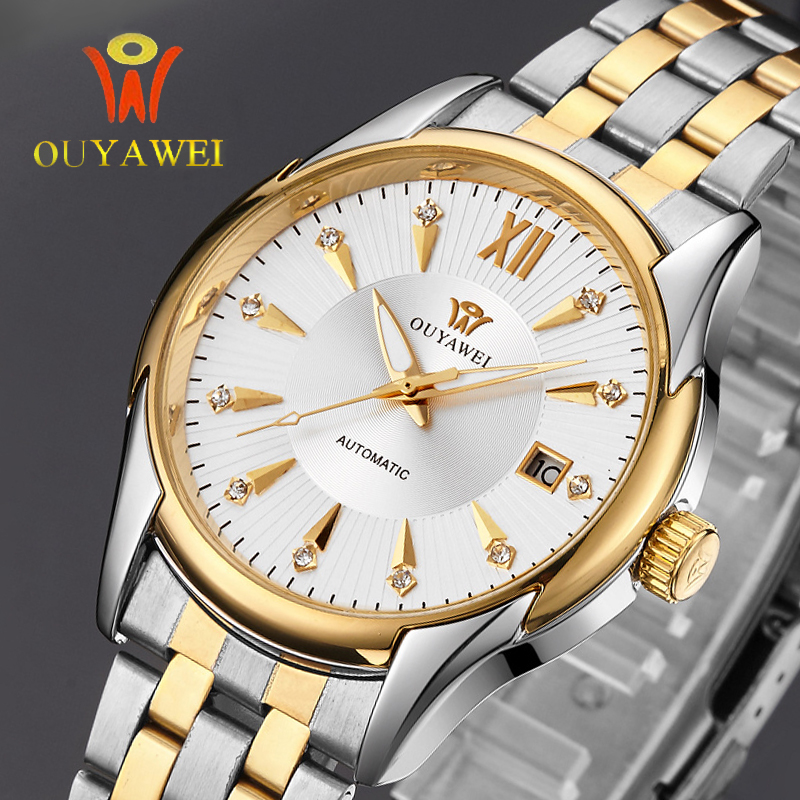 Prix pour Hommes montres ouyawei marque de luxe montre mécanique montre hommes d'affaires montres automatique montres hommes horloge relogio masculino