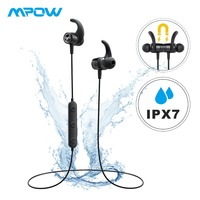 Mpow S10 Magnetic IPX7 Waterproof Sport Earphone HD Stereo Sound CVC 6.0 Noise Cancelling Headphones With Microphone&Storage Bag