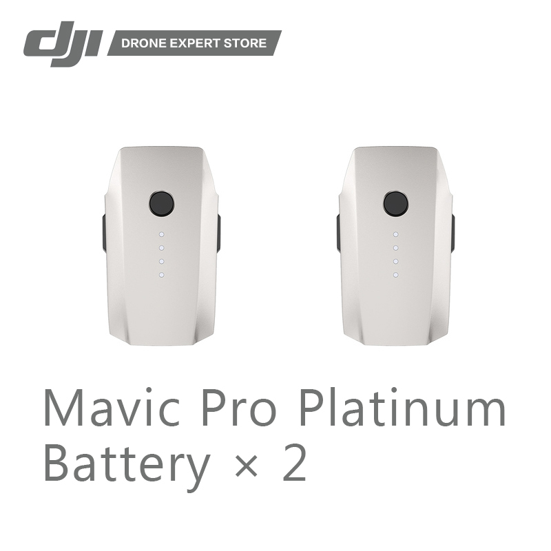 2pcs/set DJI Original Mavic Pro Platinum Intelligent Flight Battery 3830 mAh 11.4 V Provide 30min Flight Time Free Shipping flight fgus 15