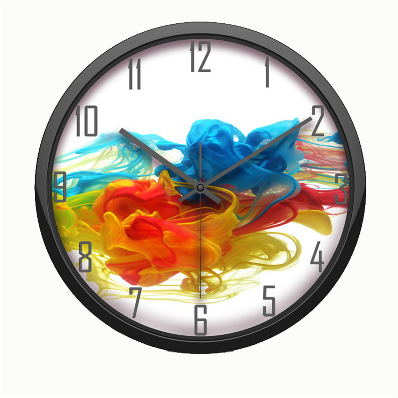 Hot Sale Large Wall Clock Modern Design Imitation Wooden Hanging Vintage Silent Home Deco Abstract Wall Clock Decor Watch