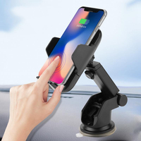 15W QC3.0 Qi Wireless Car Charger Infrared Sensor Intelligent Car Bracket Mobile Phone Wireless Charger with Quick Charger 3.0
