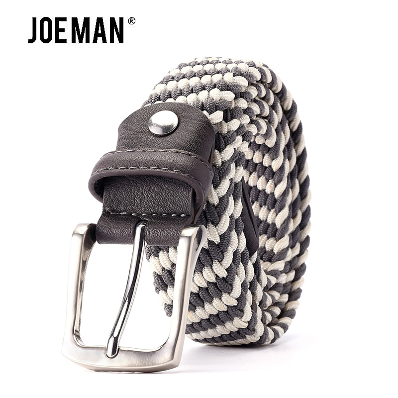 2018 Fashion Stong Stretch Fabric Belt For Men Elastic Casual Belt Waistband Braided Style High Quality Elastic Knitted Belt