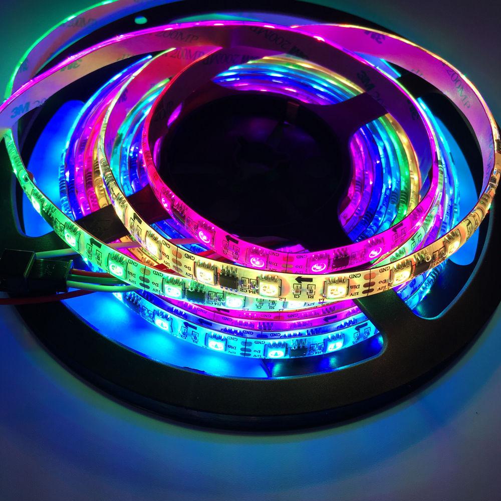 все цены на led strip WS2811 chip 5050 SMD RGB Addressable 30 48 60 leds/m ip65 ip67 Led Pixels 2811 Programmable 5m/roll LED Tape DC 12 V онлайн