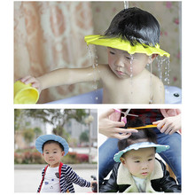 Shampoo Cap Soft baby shower tools shampoo caps adjustable hair washing hat with ear protection baby bath accessories-in Shampoo Cap from Mother & Kids on expressjinni