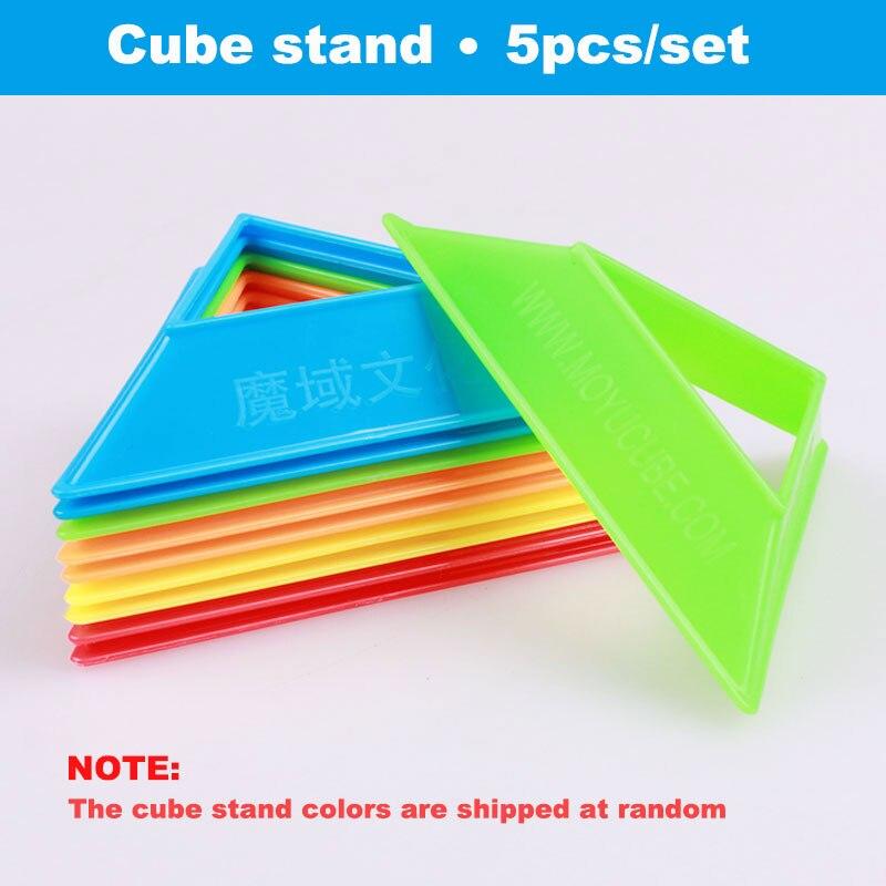 5db / készlet moyu kocka állvány színes kiváló minőségű kompakt műanyag sebesség puzzle mágikus kocka bázis kapcsolódó tartó keret tartozék