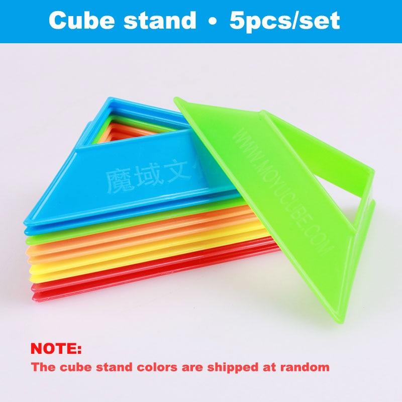 5pcs / set moyu Cube Stand Πολύχρωμο υψηλής ποιότητας συμπαγές πλαστικό παζλ ταχύτητας Magic Cube Βάση σχετικές Holder Frame Αξεσουάρ