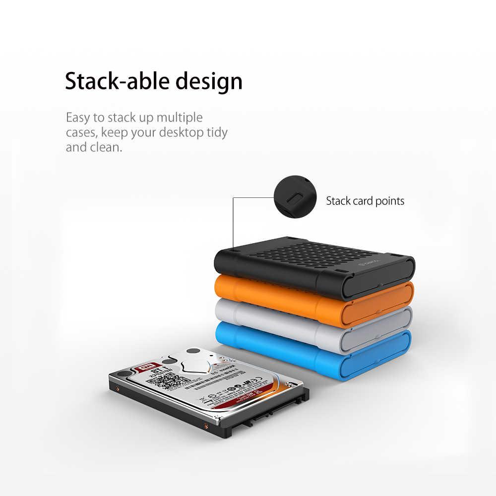 ORICO 2.5 inç silikon koruyucu kutu/saklama kutusu için sabit disk SSD siyah/mavi/gri/sarı