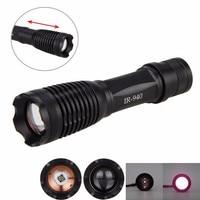 Luz de caza de visión nocturna 940 lúmenes destello de luz LED linterna frontal resistente al agua + soporte + batería 18650
