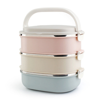 Container For Food Storage Thermal Lunch Boxs Stainless Steel Japanese Bento Box Portable Picnic With Tableware