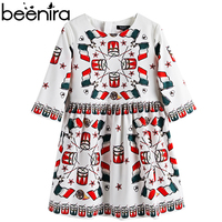 Beenira Girls European And American Style Dress 2017 New Summer Children Half Sleeve Pattern Princess Dresses
